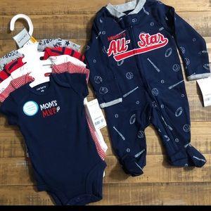 Carters baby boy bundle- Size Newborn